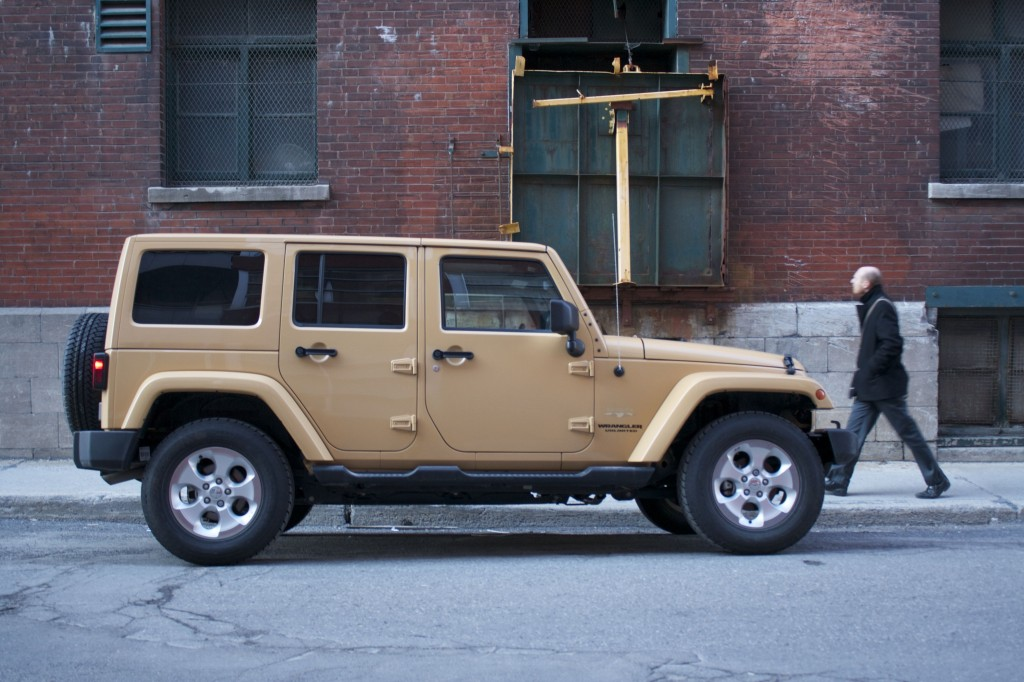 2014 Jeep Wrangler Unlimited Sahara 4x4 side view