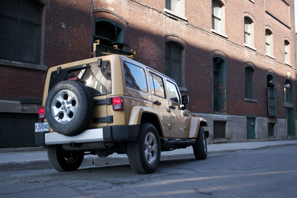 2014 Jeep Wrangler Unlimited Sahara 4x4 rear view